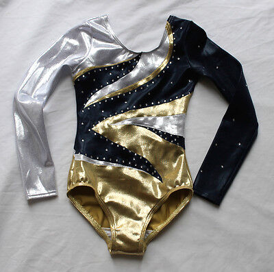 Eclipse Competition girls gymnastics Leotard with Crystals