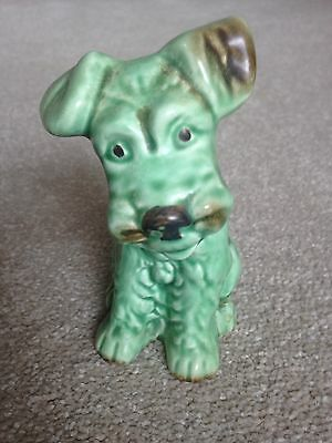 Small Green sylvac Dog Terrier Excellent Condition, No Chips Or Cracks