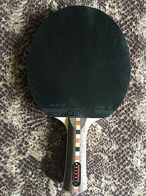 Donic Waldner Allplay Jo Shape, fitted with mark V gps 2.0mm rubbers.