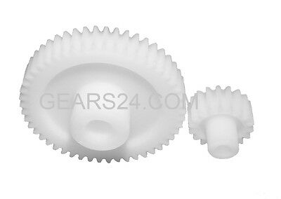 GEARS MODULE 1 Plastic 12 Bis 140 Teeth - HELICAL GEAR PLASTIC TYPE KS