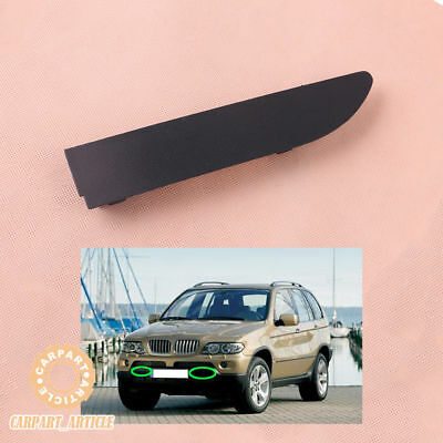 Primed Right Side For BMW X5 E53 2000-2003 Front Bumper Tow Eye Hook Cover Cap
