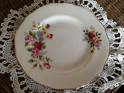 Vintage Duchess Bone China Spring Flowers tea plate and saucers