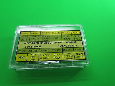 Assortment Miyota Watch   Stems  5 Pcs Each Total 60 Pieces  Free Postage