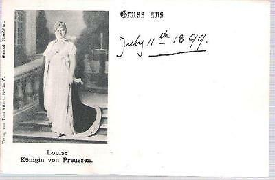 Royalty - Princess Louise of Prussia - undivided back postcard 1899