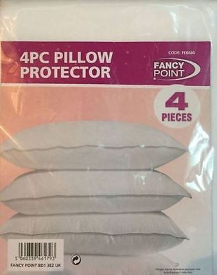 4 X Pillow Protectors Pillow Covers Mildew Fungal Proof Stain Resistant Washable