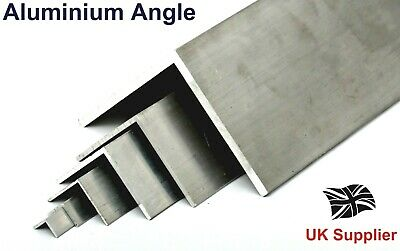 Extruded L Shaped Aluminium Equal ANGLE - 13 Sizes available Bandsaw Cut