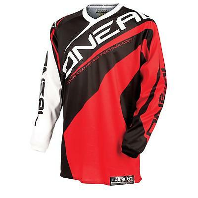 ONeal Element Jersey Trikot ROT Moto Cross Enduro Motorrad Mountainbike Trail FR