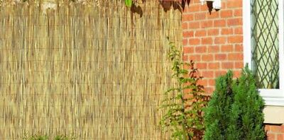 1 Natural Peeled Reed Screening Roll Garden Screen Fence Fencing Wooden 4m x 1m