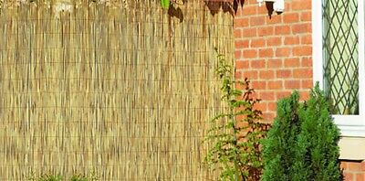 Garden Reed Screening Fencing Roll 4m x 1m Fence Panel Natural wooden