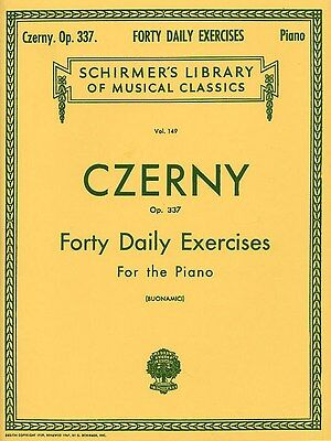 Carl Czerny: Forty Daily Exercises Op.337 Klavier Notenbuch