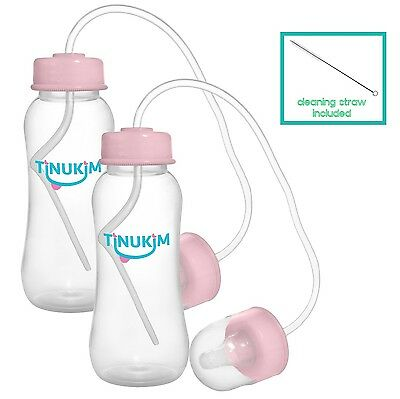 Tinukim Hands Free Baby Bottle  Anti-Colic Nursing System 9 Ounce (Set of... New