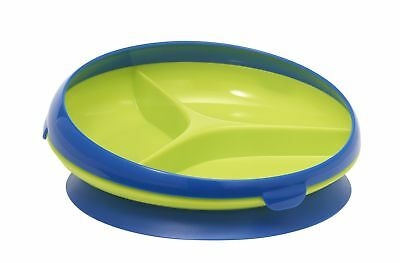 The First Years Inside Scoop Suction Sectioned Plate Blue/Green 10 New