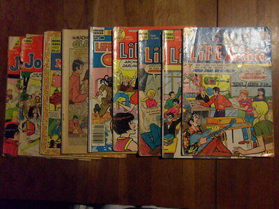 Life with Archie,Mad House, Joke Book Lot of 9