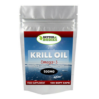 Better Bodies Krill Oil Superba 500mg 100 Capsules HIGH Quality UK Manufactured