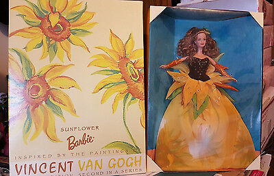1998 VINCENT VAN GOGH SUNFLOWER BARBIE - 2nd in a Series - NRFB - FREE SHIPPING!