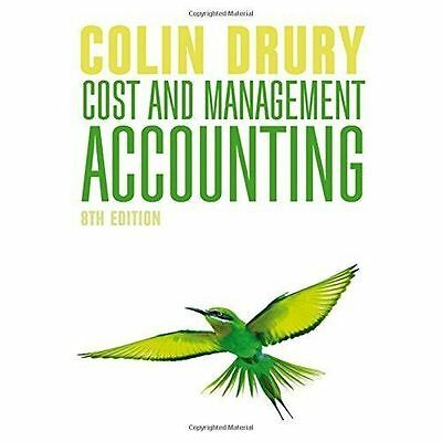 Cost and Management Accounting by Colin Drury (Paperback, 2015) 8th edition