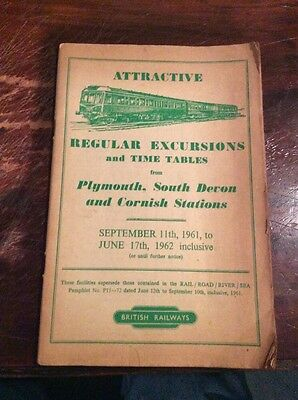 Old 1962 British Railways. Regular Excursions & Time Tables Programme