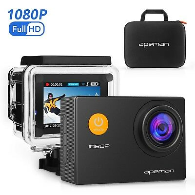 APEMAN Action Camera 12 MP Full HD 1080P Waterproof Underwater Cam with 170 W...