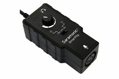 Saramonic SmartRig Audio Adapter for Smartphones (Black) New