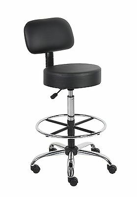 Boss Office Products B16245-BK Be Well Medical Spa Drafting Stool with Back  ...