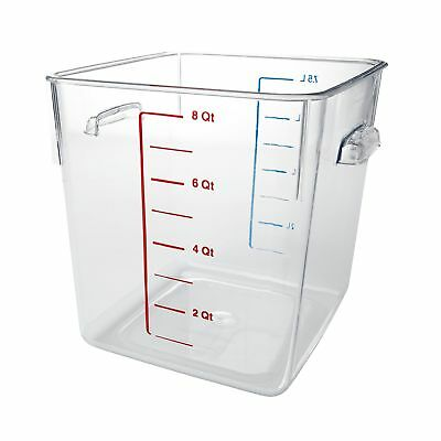 Rubbermaid Commercial Carb-X Space Saving Square Food Storage Container 8... New