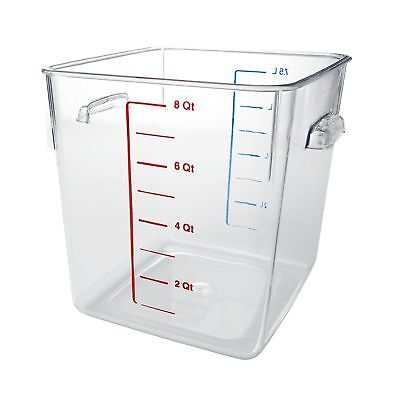 Rubbermaid Commercial Space Saving Food Storage Container 8 Quart FG630800