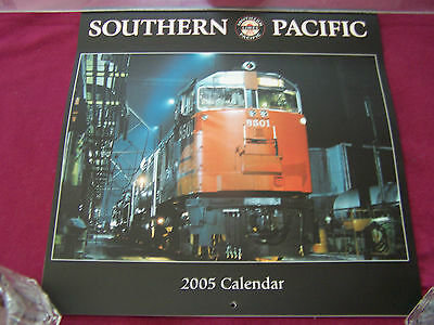 MINT- 2005 SOUTHERN PACIFIC Railroad Lines' CALENDAR w/engine #8501 on cover.