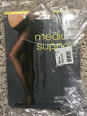 Motherhood Maternity Medium Support Pantyhose w Lycra Spandex (size small) - tan