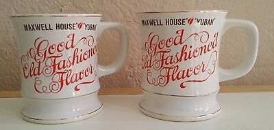 Two (2) Maxwell House Yuban Coffee Cups Made In Japan Vintage Tea VGC