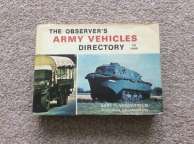 The Observer's Army Vehicle Directory To 1940