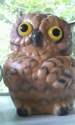 Adorable Vintage Owl Figurine with Big Eyes