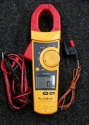 Fluke 902 True RMS HVAC Clamp Meter with Leads & Temperature Probe.