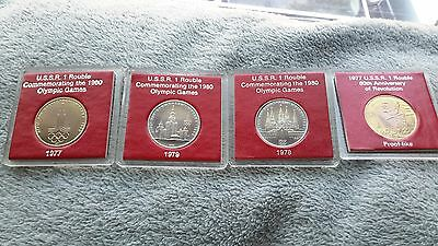 Stunning Lot Of Russia 1 Rouble Coins