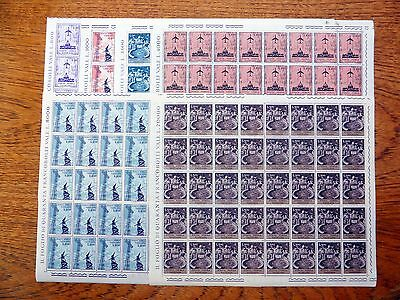 VATICAN 1967 Airmails (6) Complete Sheets of 40 FP9454