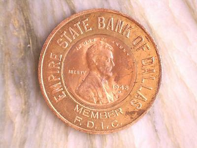 Empire State Bank, 1948 D Encased Penny, Tokens, Coins, *Special* EB20171