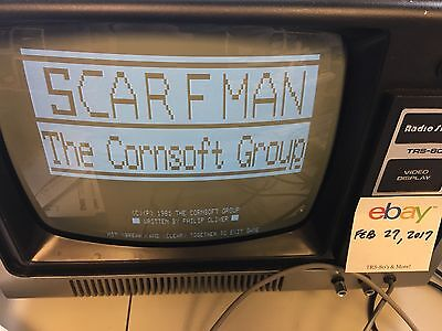 Scarfman ~ TRS-80 ~ Cornsoft Group - 16K Tape Model I/III - TESTED!