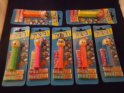 Lot of 7 Brand New Ducktales Pez Candy Dispensers Set Scrooge Gyro Webby Huey