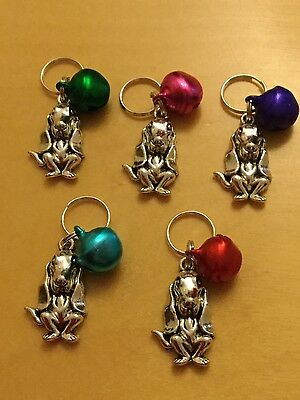Handmade Anti-Theft Basset Hound purse Charm with jingle metal bell Pick colour