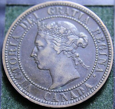 #465# 1884 Canadian Coins Large Cent Queen Victoria