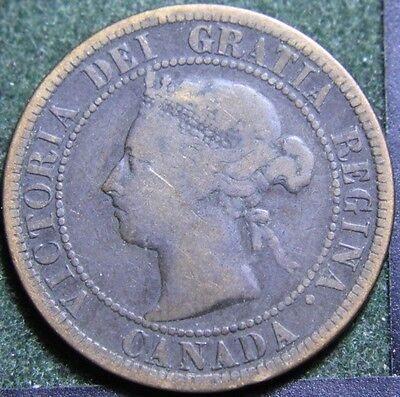 #602# 1891 Canadian Coins Large Cent Queen Victoria