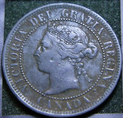#584# 1891 Canadian Coins Large Cent Queen Victoria
