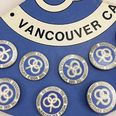 Set of 9 Expo 86 Round Pins Vancouver British Columbia BC Canada 1986 Exposition