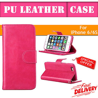 Flip Wallet Leather Case Cover For Apple iPhone 6 6s  (P081