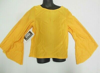 NWT Praise Top Flag GOLD  Bell longSleeve Liturgical Praisewear ch/adult sizes