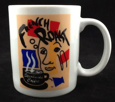 Starbucks Coffee French Roast Abstract Art Design LIMITED EDITION Mug Cup Taiwan