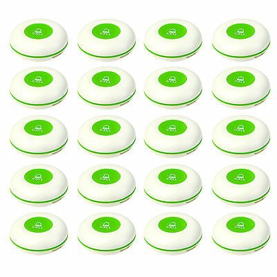 20X 433MHz Wireless Restaurant Call Transmitter Button Call Pager Waterproof TOP