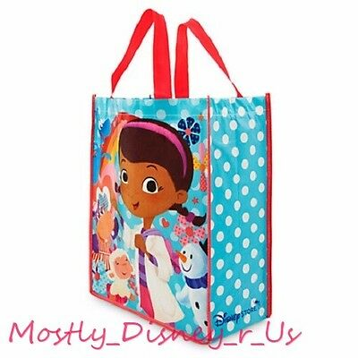 New Disney Store Doc McStuffins Reusable Gift Bag Tote Lambie Chilly Hallie