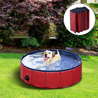 "63"" Indoor / Outdoor Cooling Dog Pet Pool Furniture Swimming Splash Folding"