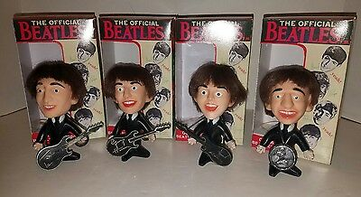 Vintage 1964 Beatles Remco 4 Dolls with Replica Boxes Paul Ringo George John