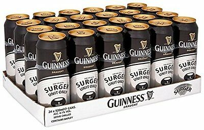 Guinness Surger Cans, 24 x 520 ml (Surger Unit Sold Separately) NEW